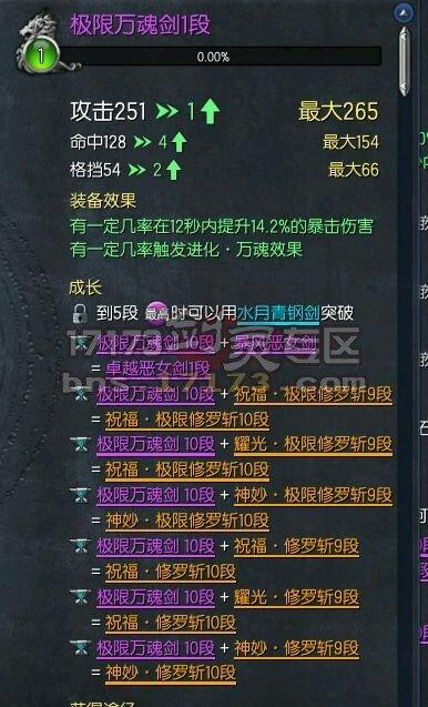 新版本剑灵传说武器成长树图解 为何这么乱_网