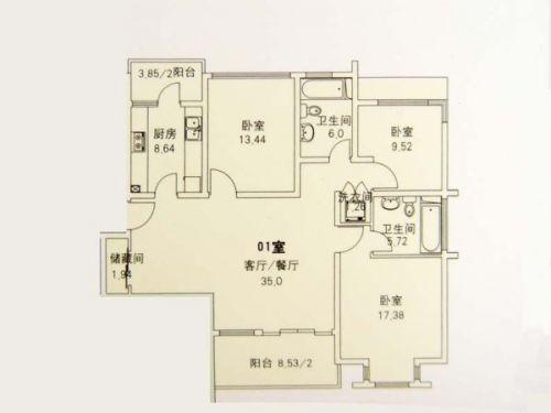 苏堤春晓名苑平面结构图