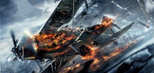 影片展示了飞机大战结尾——座山雕妄图驾驶