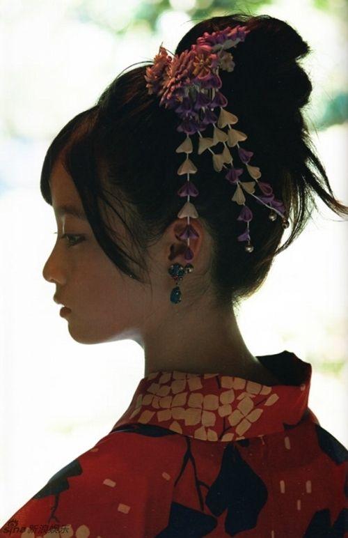 组图:日本千年美女桥本环奈和服写真美艳 中