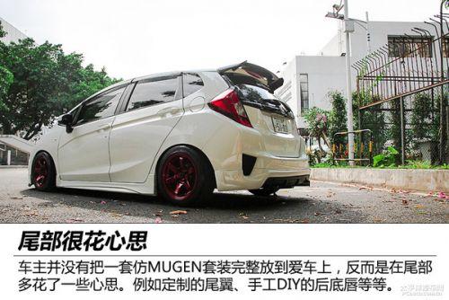 实拍广汽本田2014款飞度1.5l cvt改装车