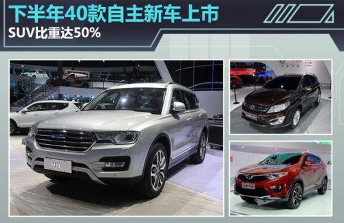 下半年新车suv上市_下半年40款自主新车上市 suv超五成(图)