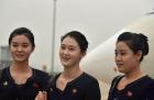 朝鲜高颜值空姐亮相